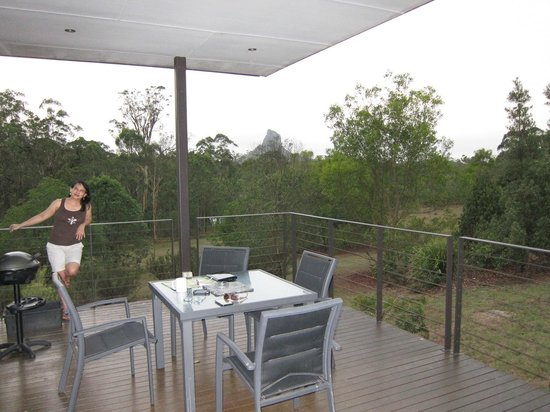 Glass on Glasshouse: Mt. Coonowrin from porch of Beerwah pod