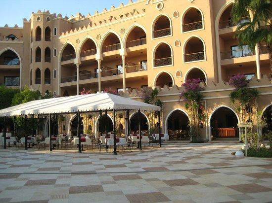 The Makadi Palace Hotel : Zimmer über Restaurant