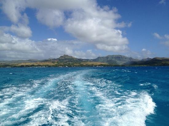 Cocos Island Resort: the view (of Guam) from the ferry to Cocos Island in December