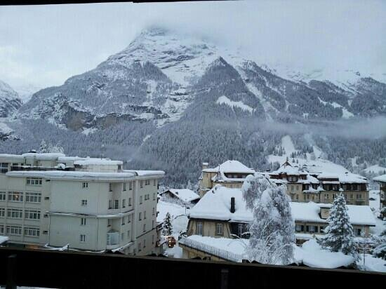 Hotel Restaurant Alpina Grindelwald: view from our room 206