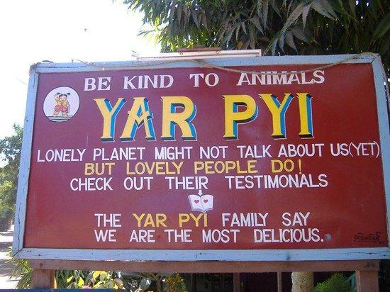 Yar Pyi Vegetarian Restaurant : Yar Pyi- Old Bagan