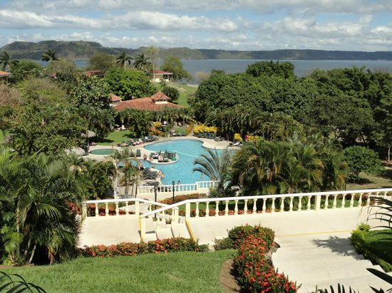 Occidental Papagayo - Adults only: Hotel looking down to pool area and beach