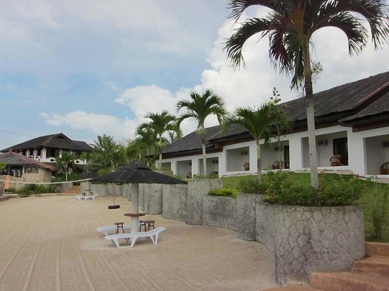 Kasai Village Dive & Spa Resort: View of resort from dock