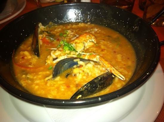 Yamuna : arroz de cigalas del menú