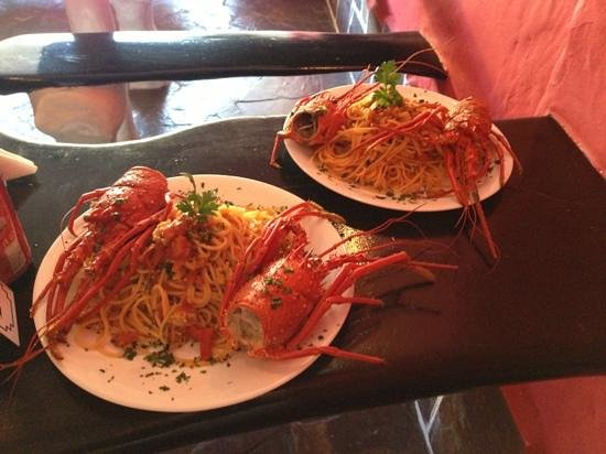 Lounge Bar Ponto G Restaurant: spaghetti all aragosta