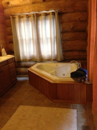 Journey's End Lodge : Master Bath Jacuzzi