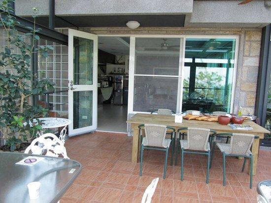 Jiye Resort: 吃飯喝茶聚會區