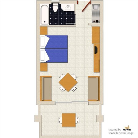 Nautilus Bay Hotel: Studio Layout