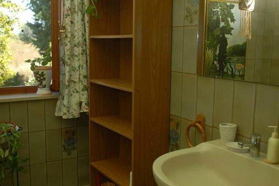 La Terza Quercia: il bagno delle camere rossa e verde