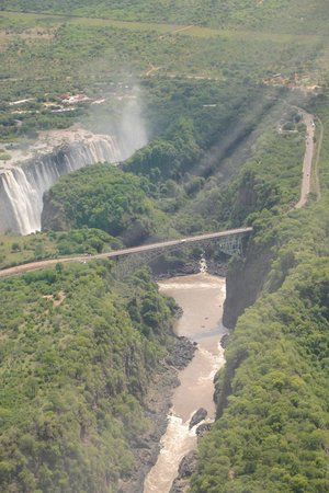 Bonisair Helicopters: Victoria Falls - Arial view