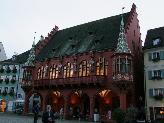 Freiburg im Breisgau, Jerman: old house on the square