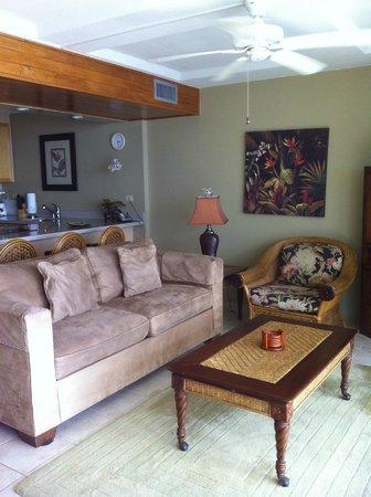 Hawaiian Princess Resort: Living room into kitchen