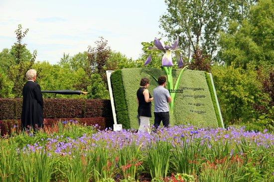 Parc Marie-Victorin: Devant la mosaïculture de la Flore laurentienne | Mosaiculture