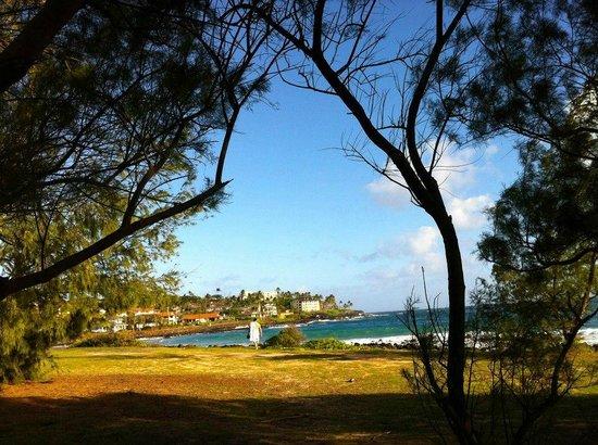 Poipu Kai Resort:                                     The view at nearby Poipu Beach