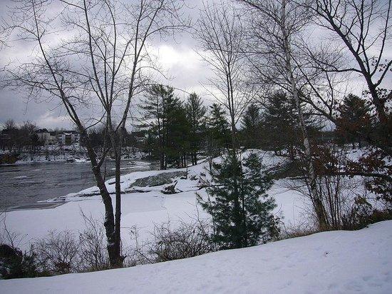 Androscoggin Brunswick-Topsham Riverwalk: View from the Topsham section of the Riverwalk 