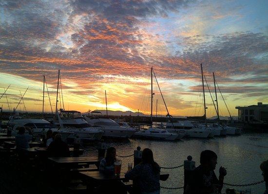 Antonios Pizza Place : Sunset from Antonios