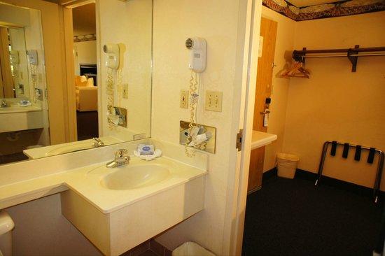 Lincoln Inn Hotel & Suites: Nice Size Bathroom
