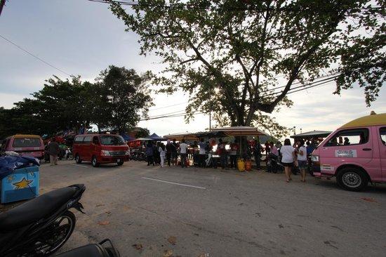 "Pangkor Bay View Beach Resort: ""Angan Apam Balik"" at road side of Teluk Nipah "