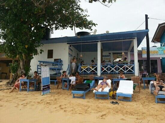 Samson Restaurant: вид с океана