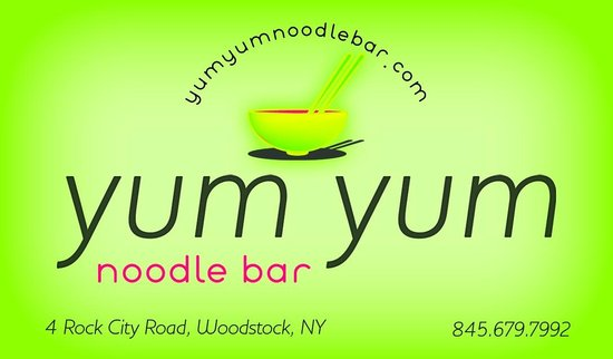 Yum Yum noodlebar : yum yum business card