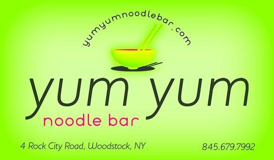 Yum Yum noodlebar: yum yum business card