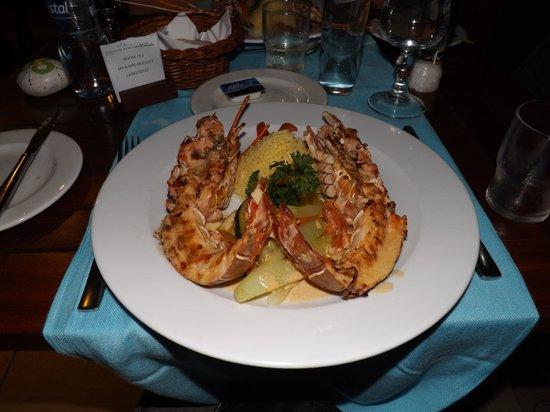 Emeraude Beach Attitude: menu langoustes