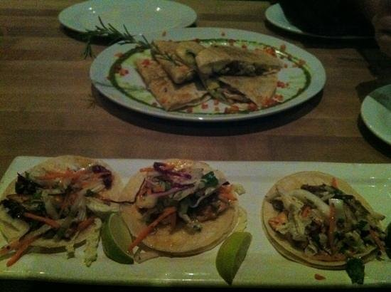 Granville: Chicken cheese quesadillas and tuna tacos