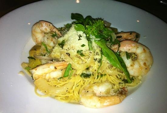 Granville: Angel hair with shrimp for the wife