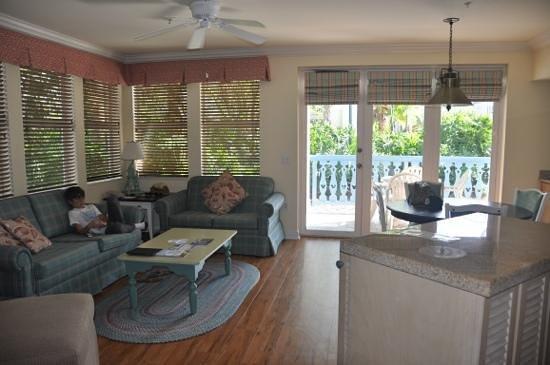 Disney's Old Key West Resort: The living area