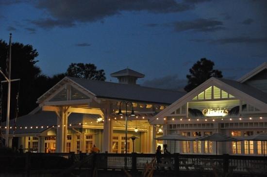 Disney's Old Key West Resort: The marina at night.