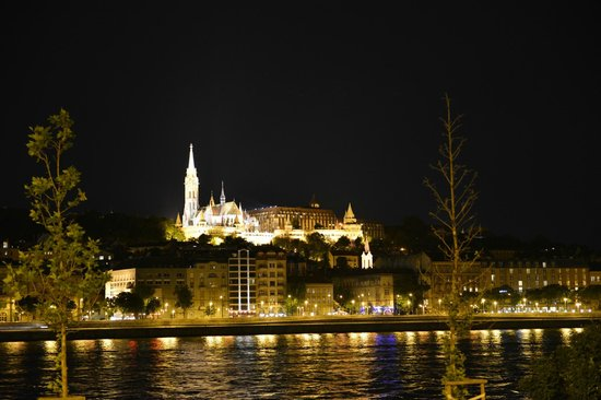 Hilton Budapest: Hotel from the other side of the Danube