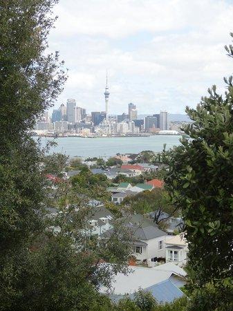 Admirals Landing Bed & Breakfast: Blick auf Auckland von Victoria Mountain