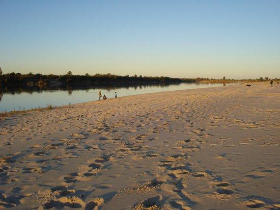 Rosario Do Sul, RS: praia das Areias Brancas no inverno