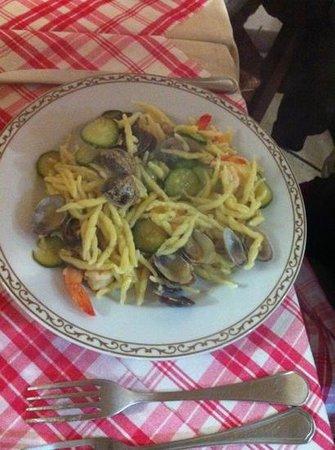 trofie zucchine e gamberi