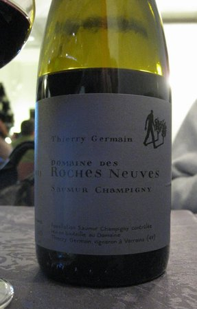 Le coup de fourchette : an organic local wine: pairs perfectly with the grilled Camembert