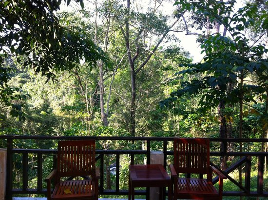 Baan E-Tu Waterfall Resort : View from terrace