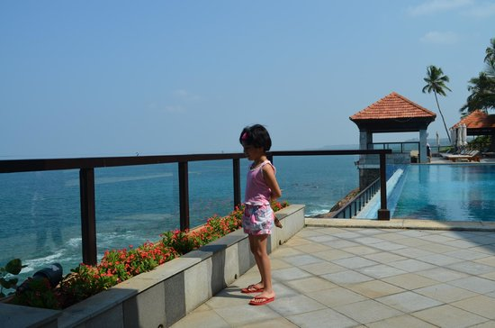 The Leela Kovalam Beach: view from dining area