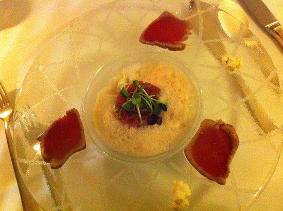 Hotel Adler Häusern: Vorspeise Gourmet Restaurant