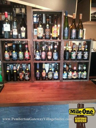 Pemberton Gateway Village Suites Hotel: Amazing Craft Beer Selection & Wine too