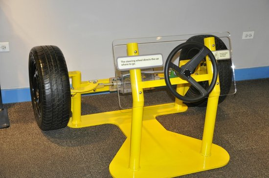 Kohl Children's Museum: see how steering works