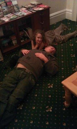 Rowcroft Lodge: Paul sleeping off dinner