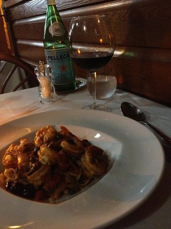 Spiga Restaurant : pasta main course - tagliolini with shrimp (no scallops)