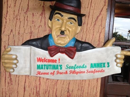 Matutina's and Gerry's Seafood House : welcome