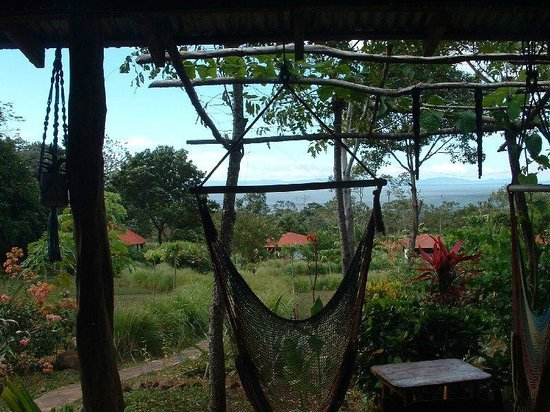 Finca Mystica: Spectacular view from the main lodge. Loved the hammocks and hammock chairs!