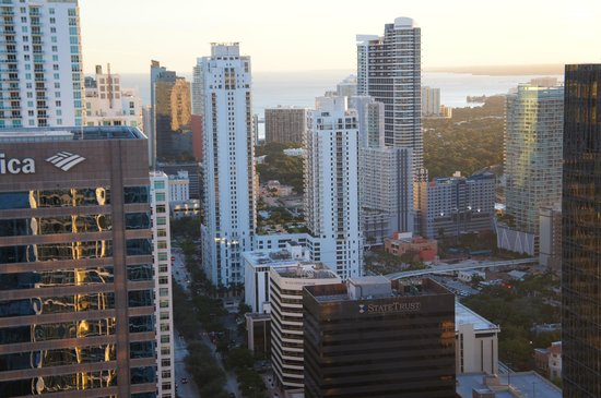 Viceroy Miami: view from room of downtown