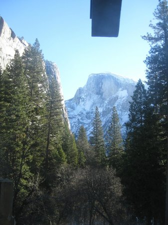 The Majestic Yosemite Hotel: view from the room window