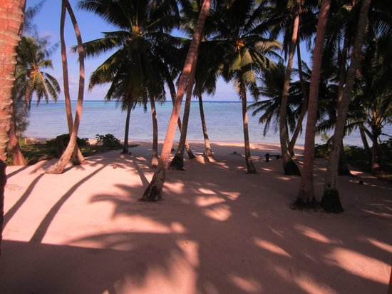 Amuri Sands, Aitutaki: View from the balcony