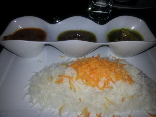 Colbeh Persian Kitchen & Bar: persian stew trio