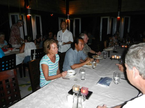 Wakatobi Dive Resort: Last night dinner with guides and crew