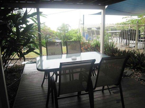 Airlie Apartments: our deck